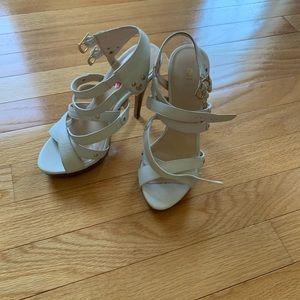 BAKER'S White Sandal Heels